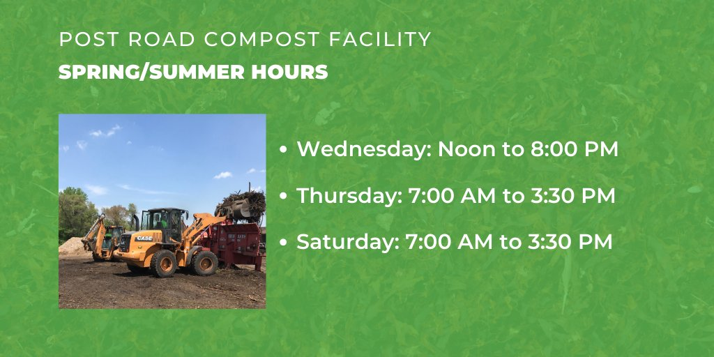 Loading assistance will be available at the Compost Facility on Thursday, August 13 from 7:00 AM until 3:30 PM, weather permitting. This is a complimentary service we provide whenever possible.  For more information on the compost facility, visit