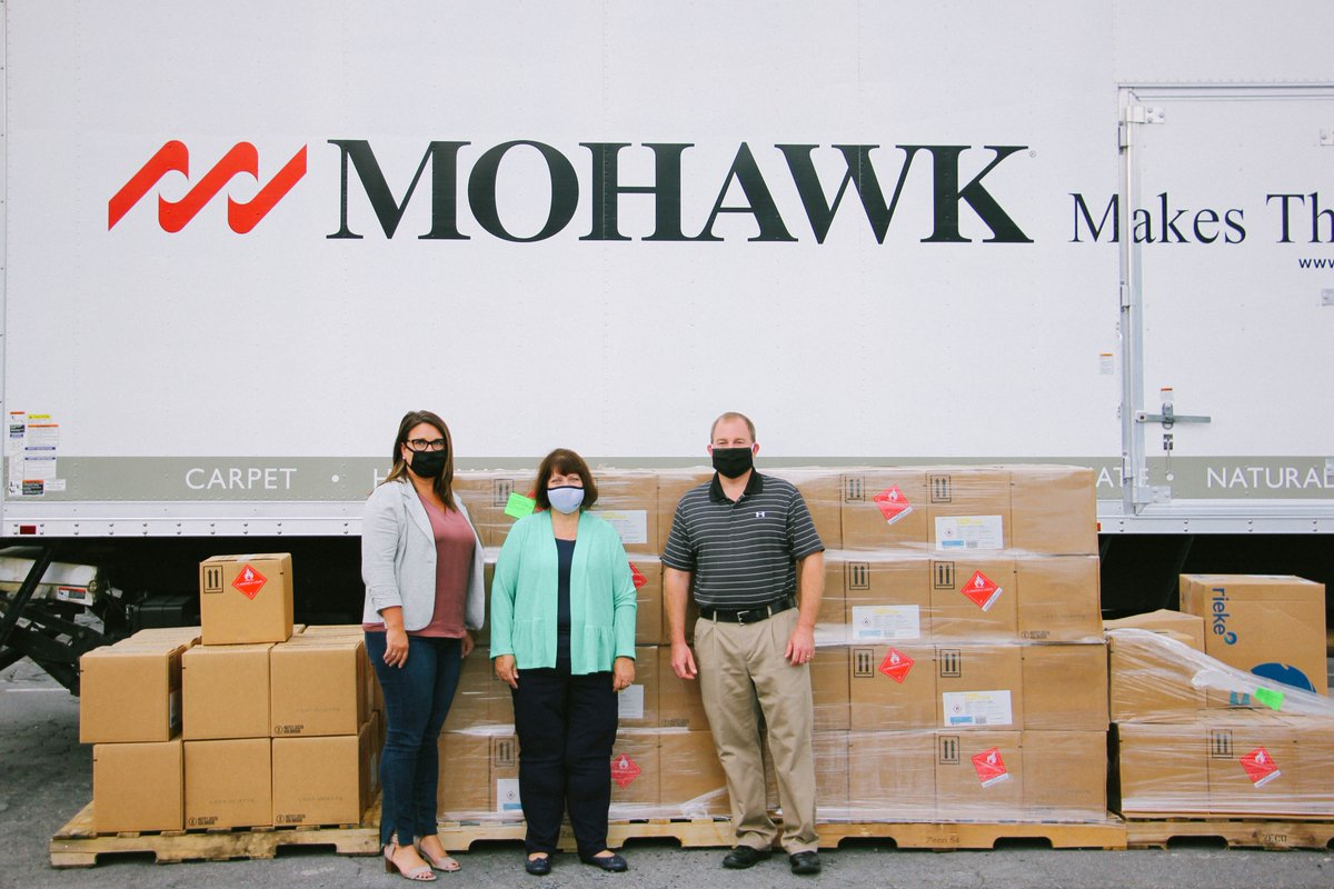 Yesterday, @MohawkFlooring donated bottles of hand sanitizer for DPS classrooms. We're so thankful for your support which will help us keep our students and staff safe this year! #ReconnectDPS