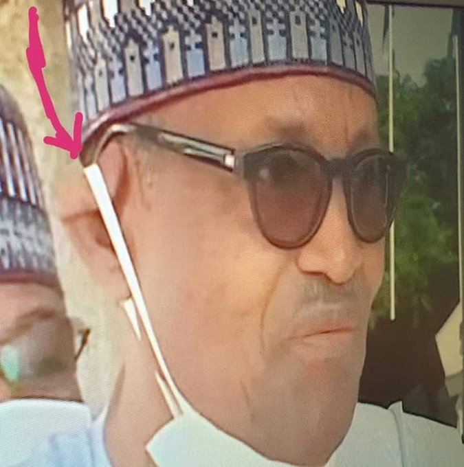 Buhari Rubber Ear 👂 #BuhariEar👂 Needs to be examine. #Buhari face needs to be removed. Truth must be told whether the blind once sees it or not. This is not @MBuhari and @aishambuhari is aware. #AsoRockIsEmpty @Amaka_Ekwo @MaziNnamdiKanu @EjiBiafra