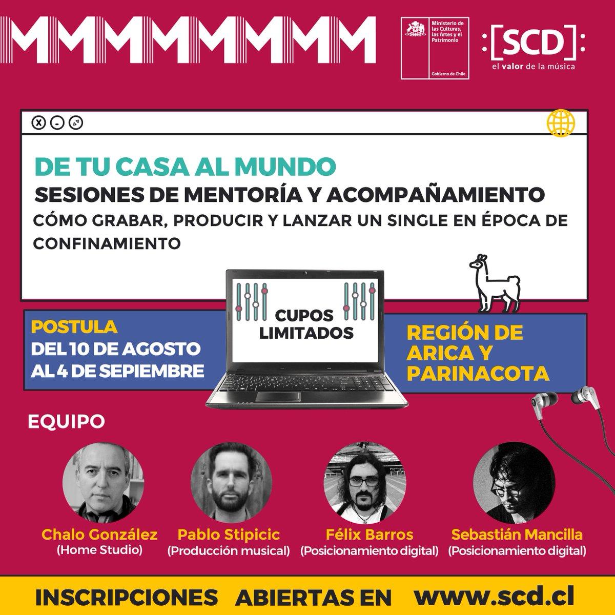 test Twitter Media - ❕ATENCIÓN REGIÓN DE #ARICAYPARINACOTA. ✅ ¿CÓMO POSTULO? 📲💻 Ingresando a https://t.co/1qw8YzCsNg De tu 🏡 al 🌎: Te invitamos a ser parte de una mentoría totalmente gratuita en compañía de reconocidos expertos de la #músicachilena 🔊 https://t.co/LhiX8FNNBR