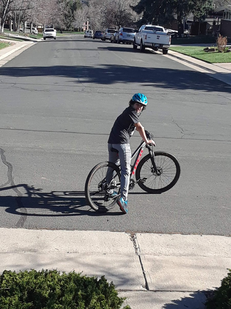 ... for just a moment when a big truck came by and took his bike -- it was leaning next to some free furniture the school was giving away. Zach has autism and didn't realize what he had done. His new yellow helmet was also taken. The sheriff's office is asking whoever took it...
