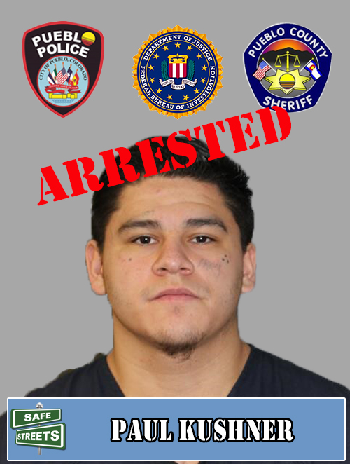 SAFE STREETS ARREST  Paul Kushner had a no bond warrant for Flight/Escape which included Assault.  Out of 432 Safe Streets criminals featured, 405 have been arrested for a 94% arrest rate.