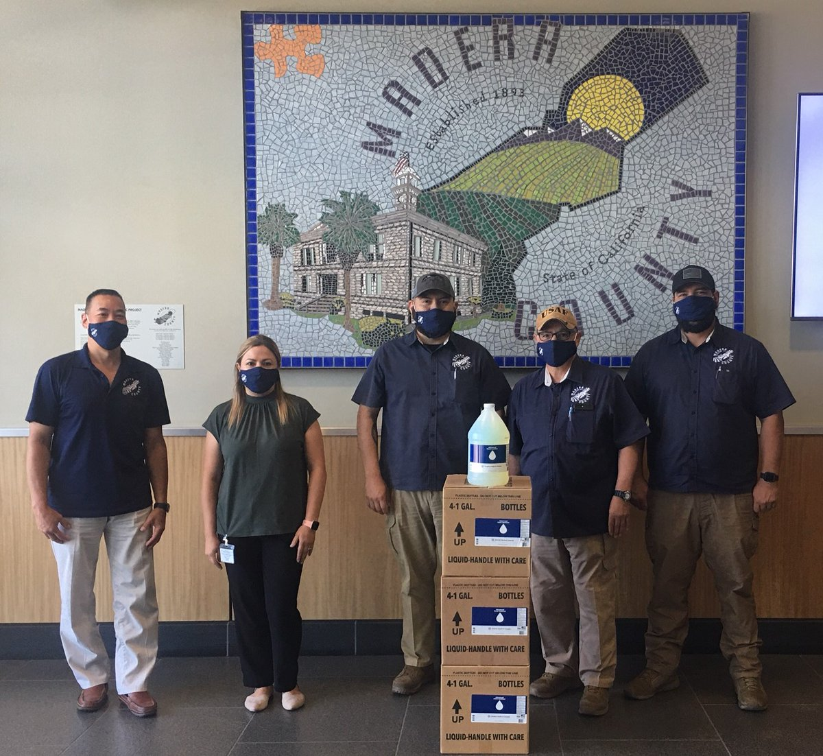 Madera County agencies giving back to the local community. With donations of hand sanitizers from Public Health, Madera County Environmental Health and Madera County Code Enforcement delivered hand sanitizers to over 250 local businesses throughout the City of Madera.
