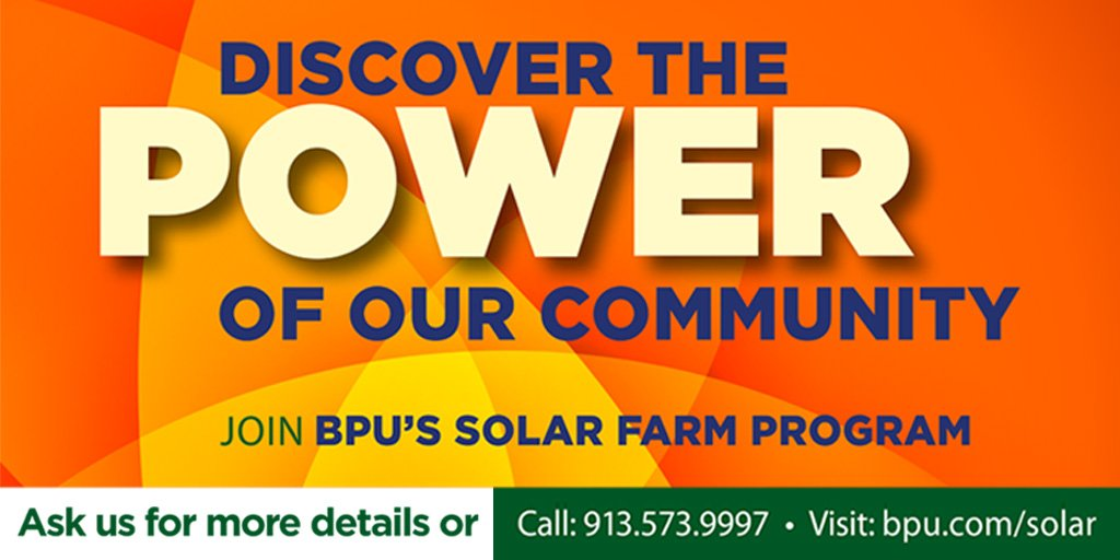 Even if you don't own a home, we've got you covered 🌞 Our #Solar Farm Program is open to our residential & commercial business customers in Kansas City, Kansas.   #GoSolar and get a monthly credit on your utility bill. For full program details visit .