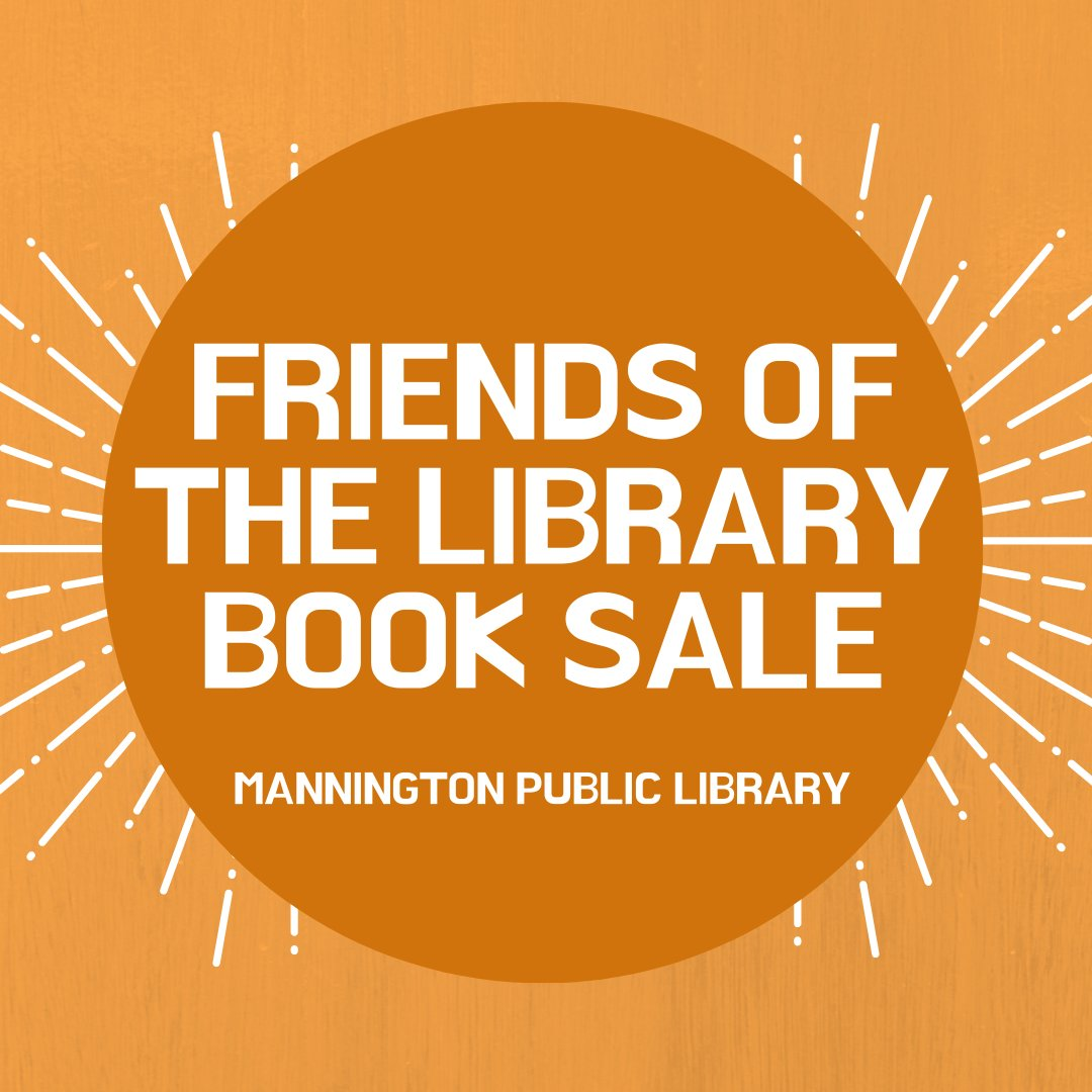 The Mannington Friends of the Library Book Sale is BACK!  NEW HOURS Wednesdays: 1 pm - 3 pm Fridays: 9 am - 1 pm Saturdays: 9 am -12 pm   We look forward to seeing you!  Note: Please wear a face covering to comply with Governor Justice's Executive Order 50-20