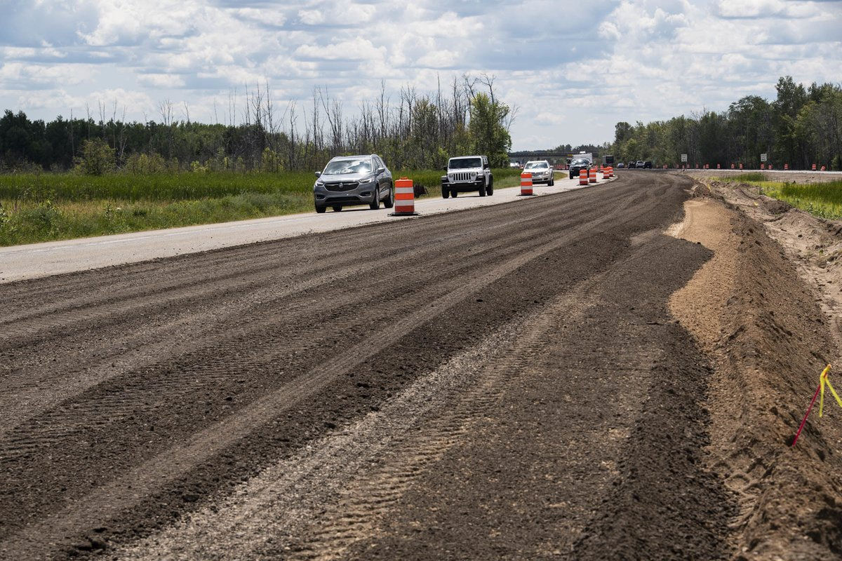 Work to rebuild 5.5 miles of US-127 in #RoscommonCounty continues and is expected to be finished in October.