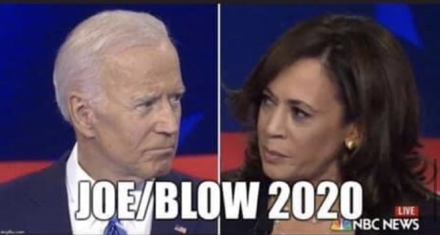 He picks #KamalaHarris and the Dow drops faster than she did to #FreeWillie.