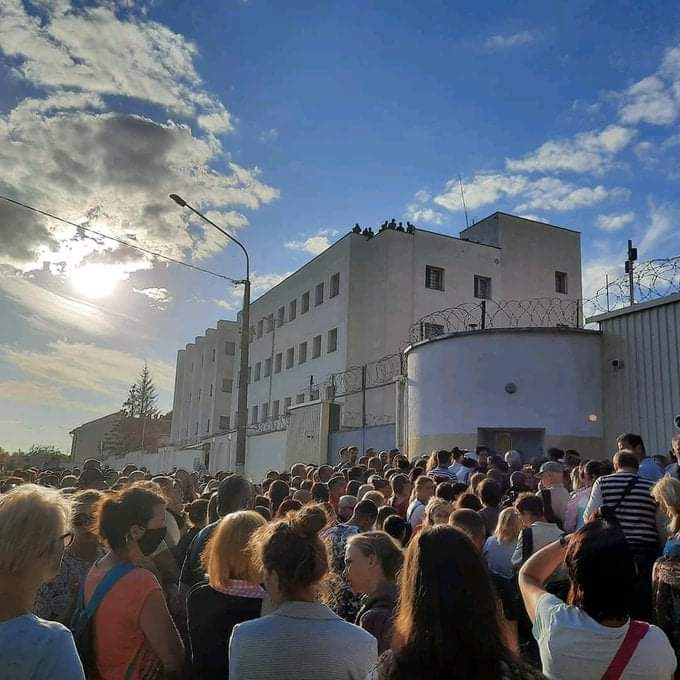 Minsk detention center this morning  Relatives of disappeared protesters are trying to get any info about their loved ones There are reports of torture, including of minors in this center  Media: I may be able to connect you to relatives of those who were reportedely tortured