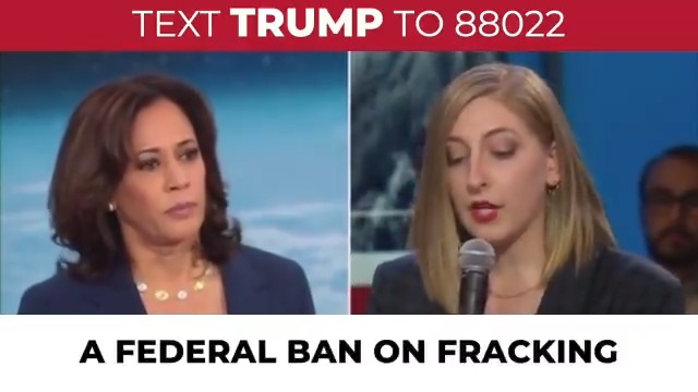 Far-left radical Kamala Harris wants to ban all fracking jobs, which would take away paychecks from workers in states like Colorado, Pennsylvania, Texas, New Mexico, and Ohio.