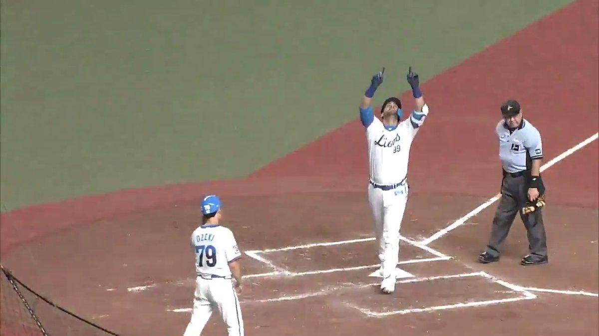 #メヒア 選手が2試合連続となる本塁打を放ちます!昨日からの好調を維持しています! #埼玉西武ライオンズ #seibulions