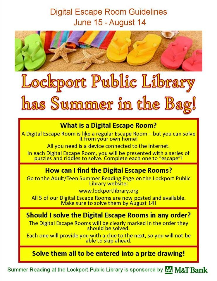 Lockport Public Library has Summer in the Bag! Check out our Summer Reading Program at  .