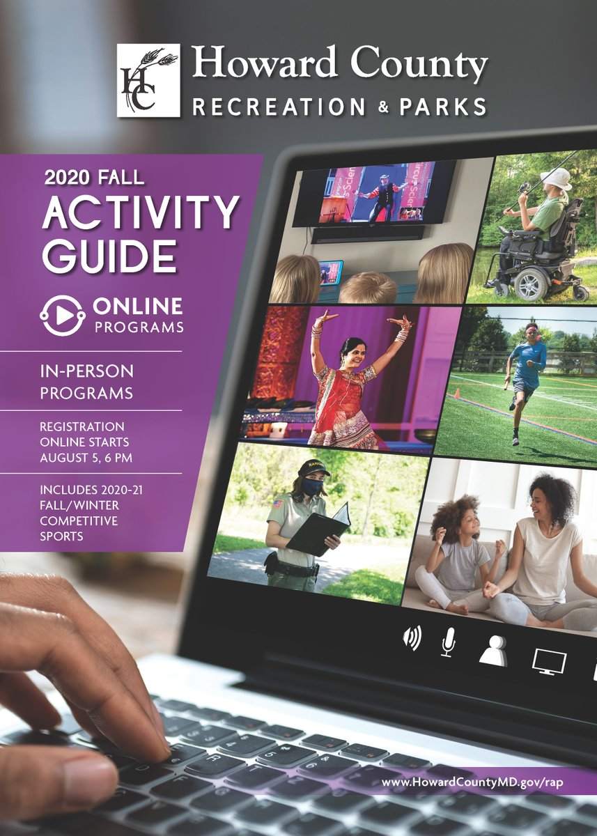 Online registration for our fall programs opens tonight at 6pm for out-of-county participants! For a digital copy of our 2020 Fall Activity Guide, visit . To register for programs, visit .