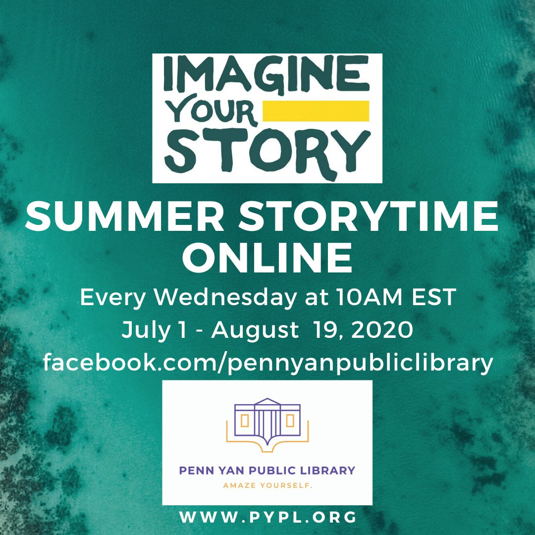 Storytime drops at 10am on our Facebook page! #LibrariesFromHome #ImagineYourStory