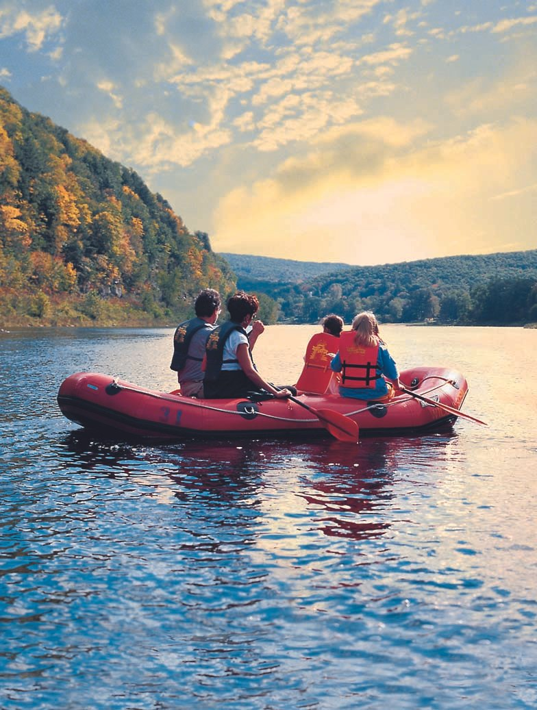 Aquatic adventures on the Delaware River are a must-do while in Orange County, NY! Get out there while the weather is warm, and don't forget the sunscreen 😛
