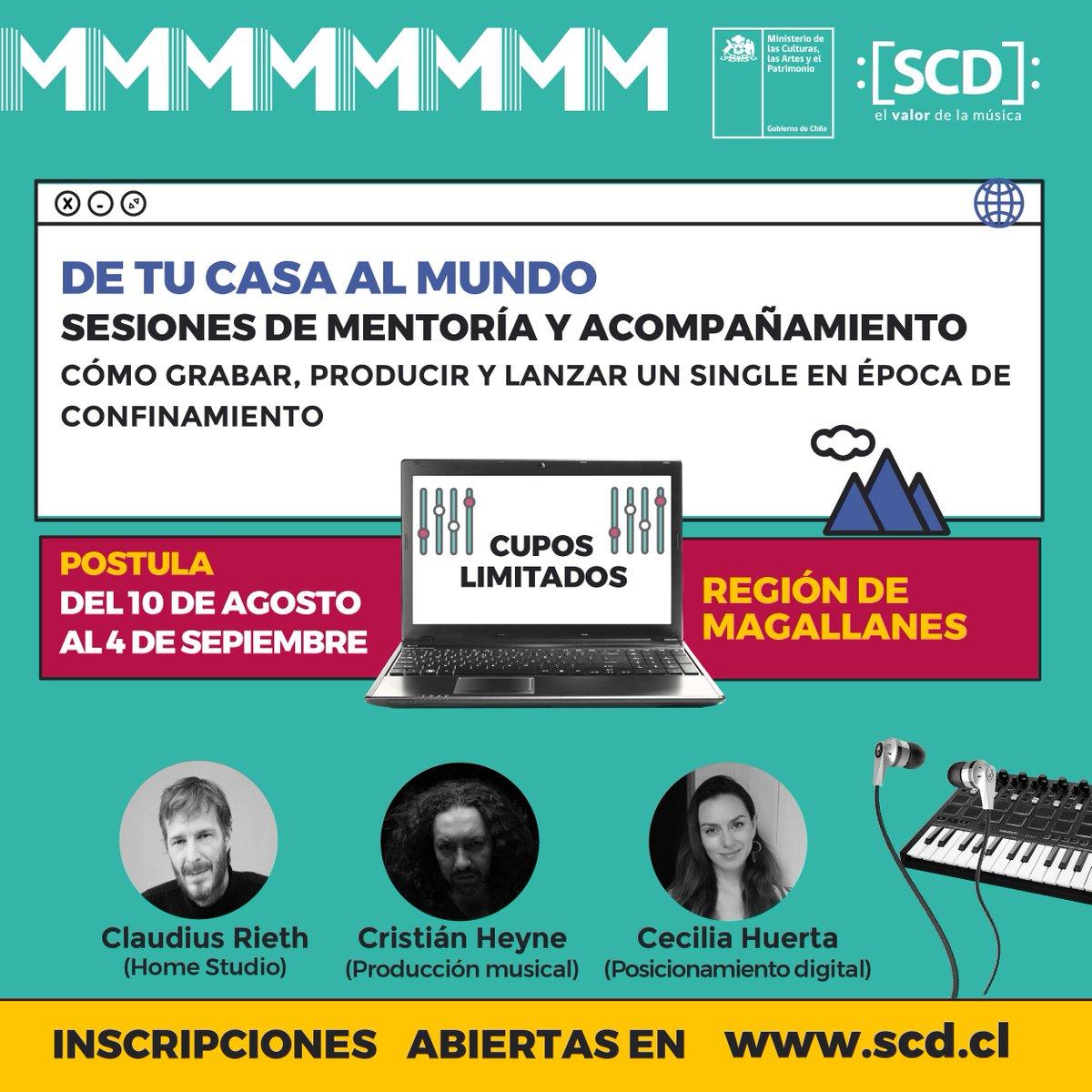 test Twitter Media - ❕ATENCIÓN REGIÓN DE #MAGALLANES. ✅ ¿CÓMO POSTULO? 📲💻 Ingresando a https://t.co/1qw8YzCsNg De tu 🏡 al 🌎: Sé parte de una mentoría totalmente gratuita con la que podrás trabajar parte de tu música sin moverte de casa y en compañía de expertos de la #músicachilena 🔊 https://t.co/q8qm3hxFR7
