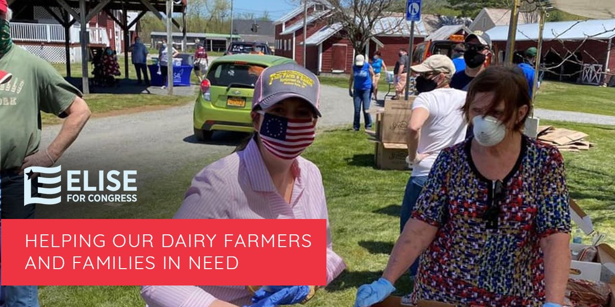 RESULT: I worked across the aisle to expand the milk donation program to help dairy farmers get their excess supply of milk to #NY21 families in need. This important #Result provides funding that will help both our dairy farmers and our North Country families. #100Days100Results