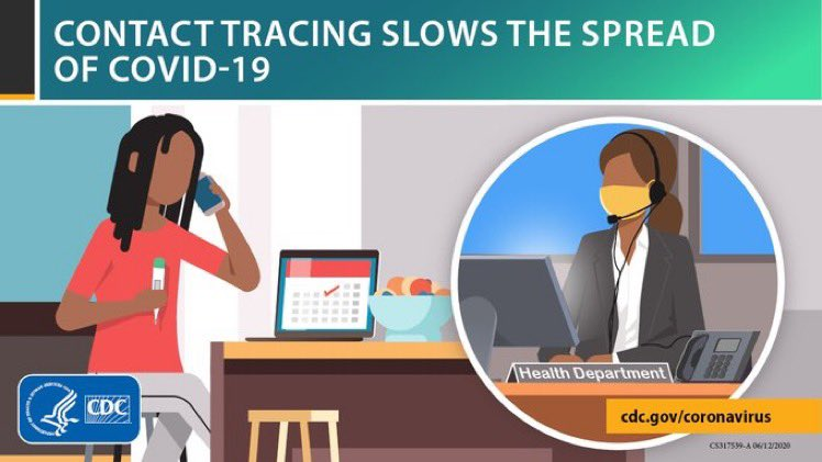 Contact tracing slows the spread of #COVID19. See these answers to Frequently Asked Questions about contact tracing:  #SlowTheSpread