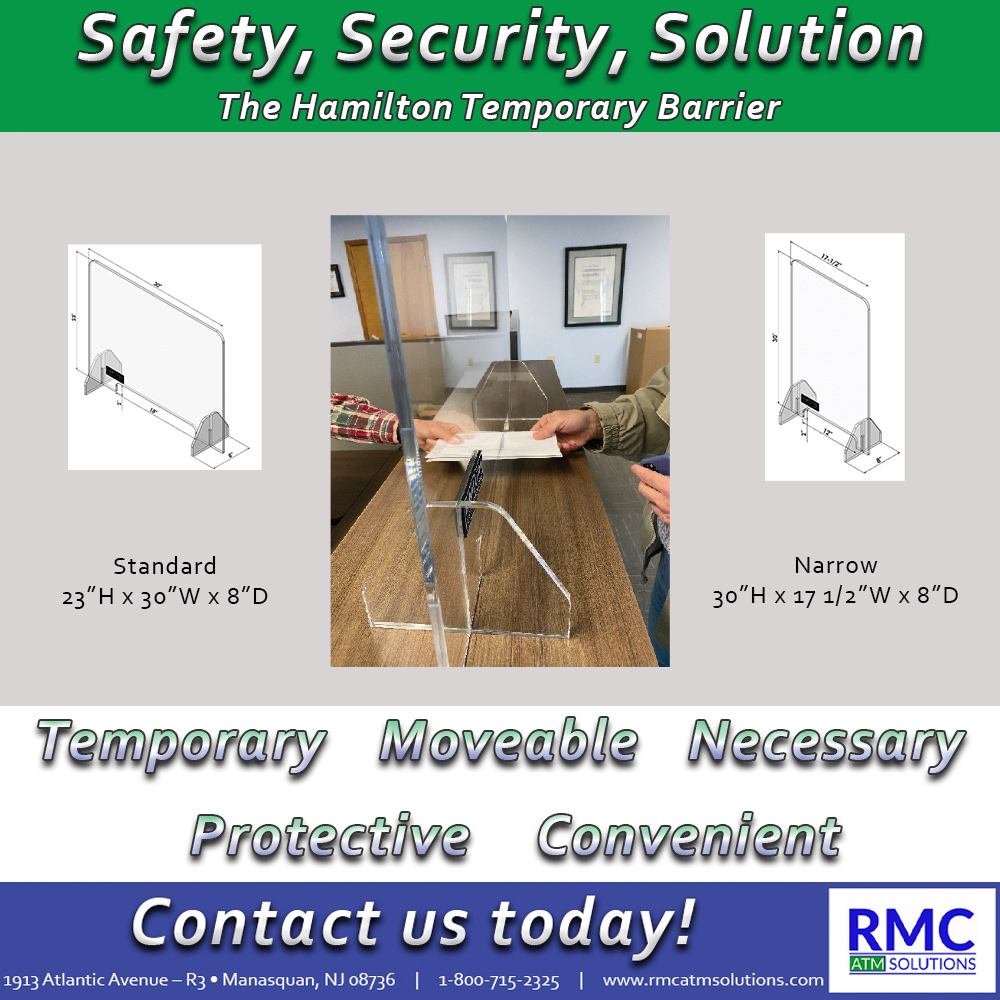 Need a convenient, affordable way to keep your customers and employees safe!  Call us today to order your temporary, acrylic barriers!  #temporary #convenient #safety #security #solutions #financialinstitution #bank #branch #covid19 #safe #protection