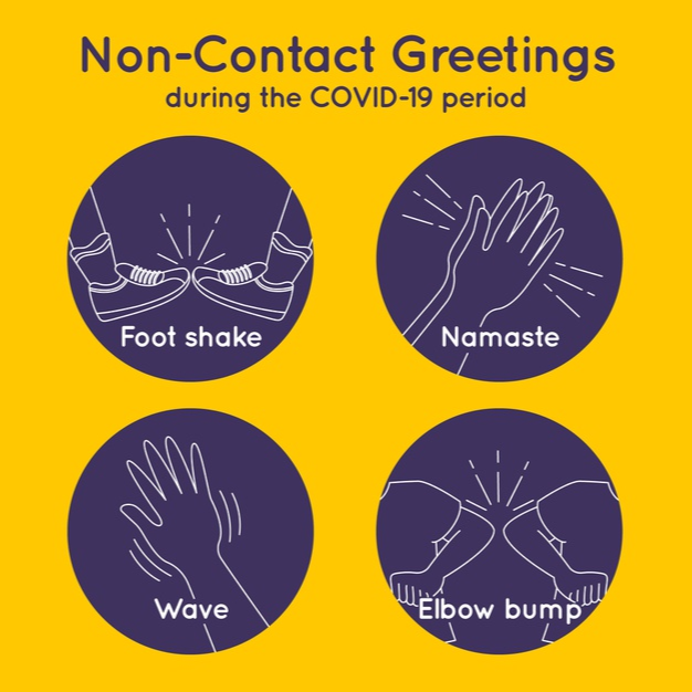 Some interesting ways to greet people without shaking hands or hugging!