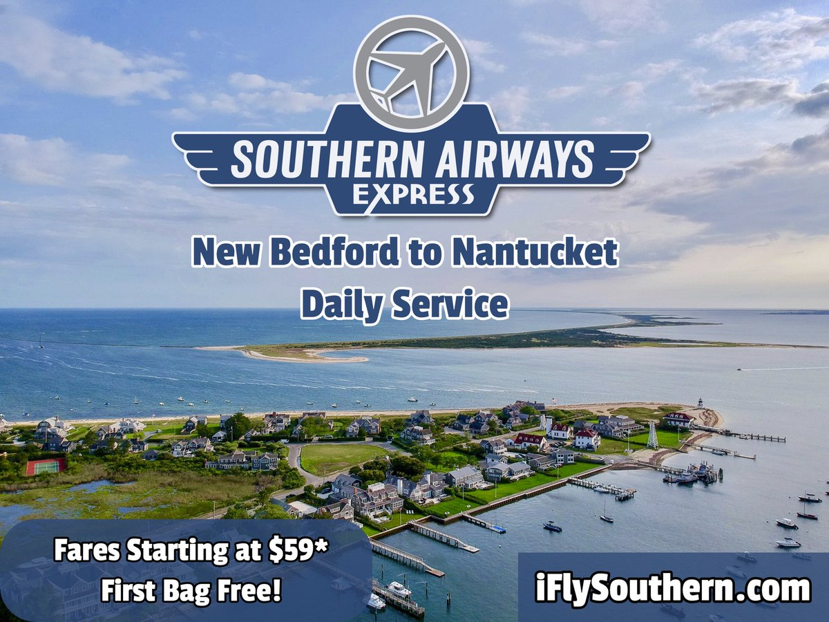 RT @AirportACK: New Service on @iFlySouthern from #Nantucket to @iflyEWB. @VisitNantucket @InkyM