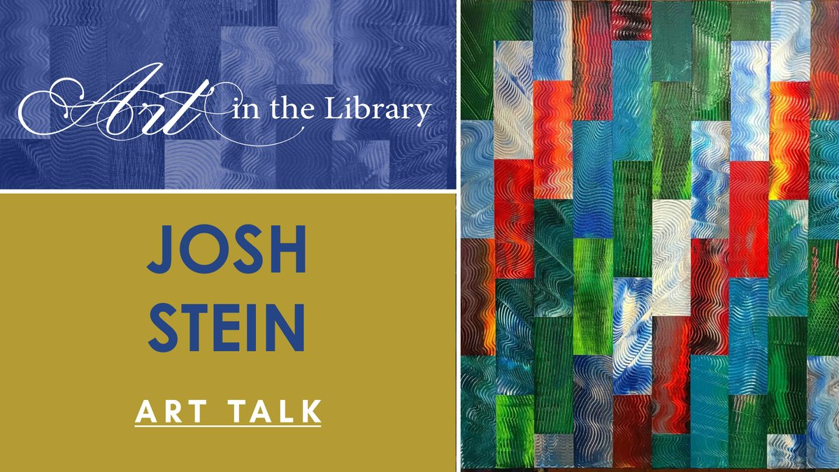 Don't miss our Virtual Art in the Library event on Friday, 8/14 at 6:30pm featuring local artist Josh Stein.     #napalibrary #starthere #napaartist #napavalleyart #sfbayareaartist #artinthelibrary #abstractart #contemporaryart