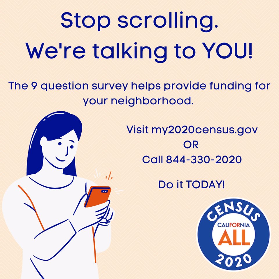 Visit  to fill out your Census today!