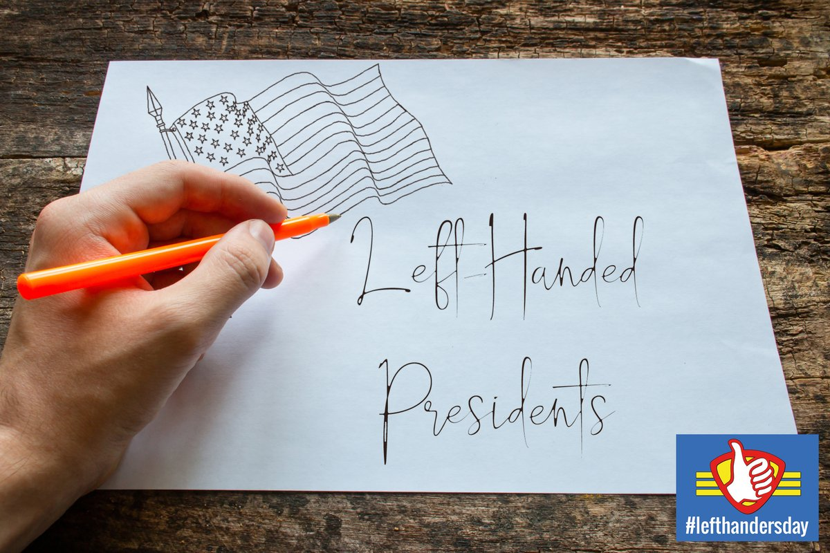 Did you know that 5 of the last 8 U.S. Presidents have been left-handed? Celebrate International Left Handers Day on August 13 by reading one of these books by or about one of these left-handed Presidents.  @LeftHandersClub