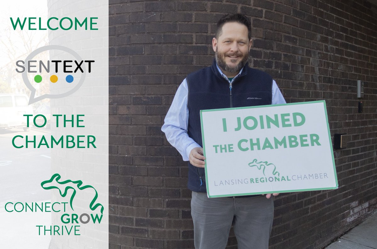 Please up his give a warm welcome to Lansing Chamber Capitol City Texts! 📱  We are looking forward to continuing to see you grow and prosper with our team! #ConnectGrowThrive