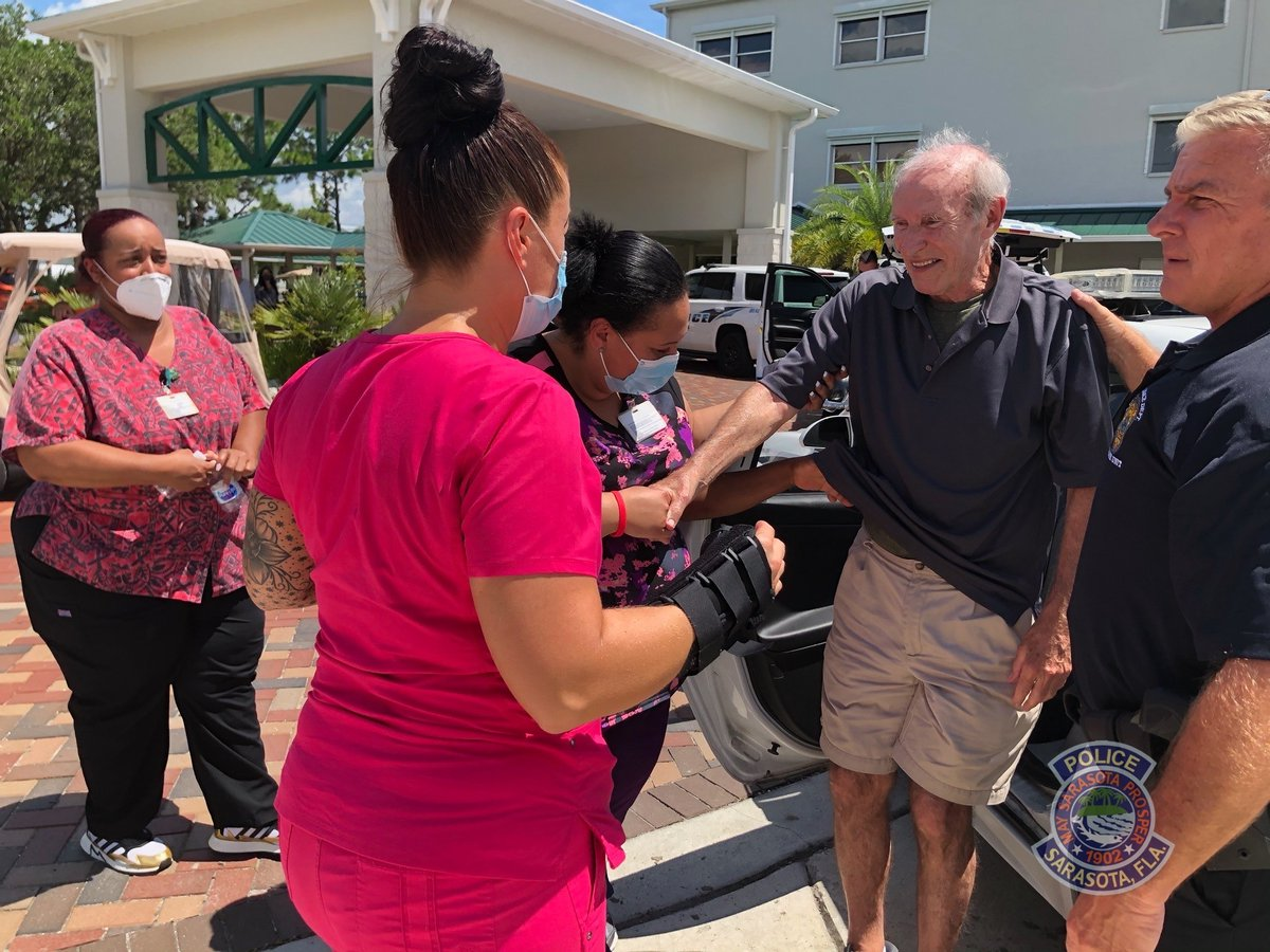 UPDATE:  Mr. Kushiam was found safe!  A citizen called us after seeing him along Bayfront Drive in Sarasota a short time ago. We responded and made sure to get him back home safe and sound! 🚔🚔🚔#Teamwork #Sarasota #Police