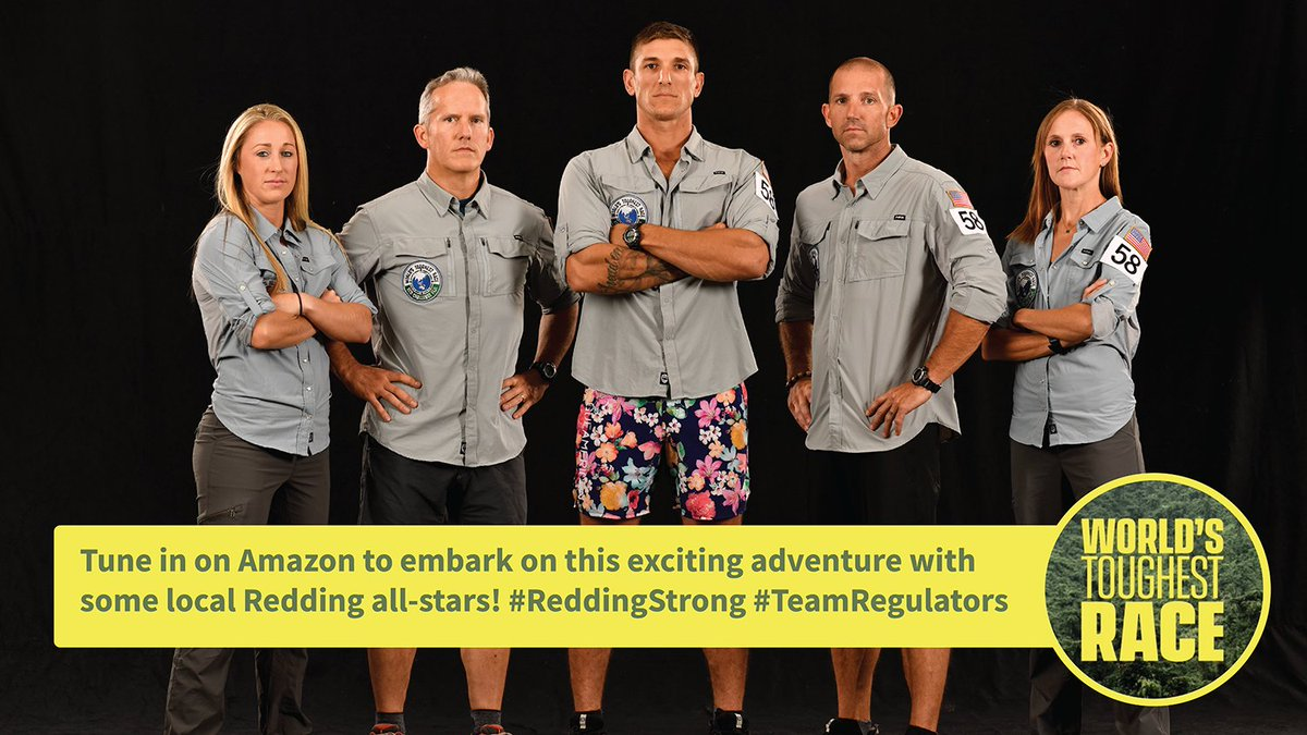 City of Redding employee and her teammates in Amazon Prime's World's Toughest Race! Team Regulators is showing the world what it means to be Redding Strong! If you are need something to binge watch this weekend, let it be this. Show drops this Fri 8/14!