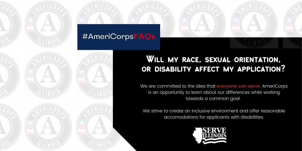 @AmeriCorps is an opportunity to learn about our differences while working towards a common goal. 🤗   Read more FAQs here:   #AllInIllinois