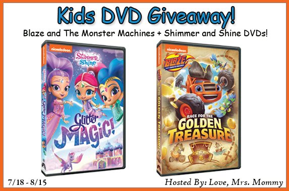#Parents, to #Win Two Kids' DVDS from Nickelodeon!  >>   #GiveawayAlert #sweepstakes #giveaways
