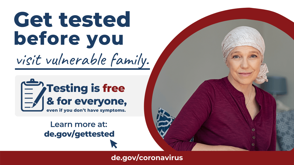 Know your COVID-19 status. Find a testing location near you at  #SummerSafely #DelawareStrong