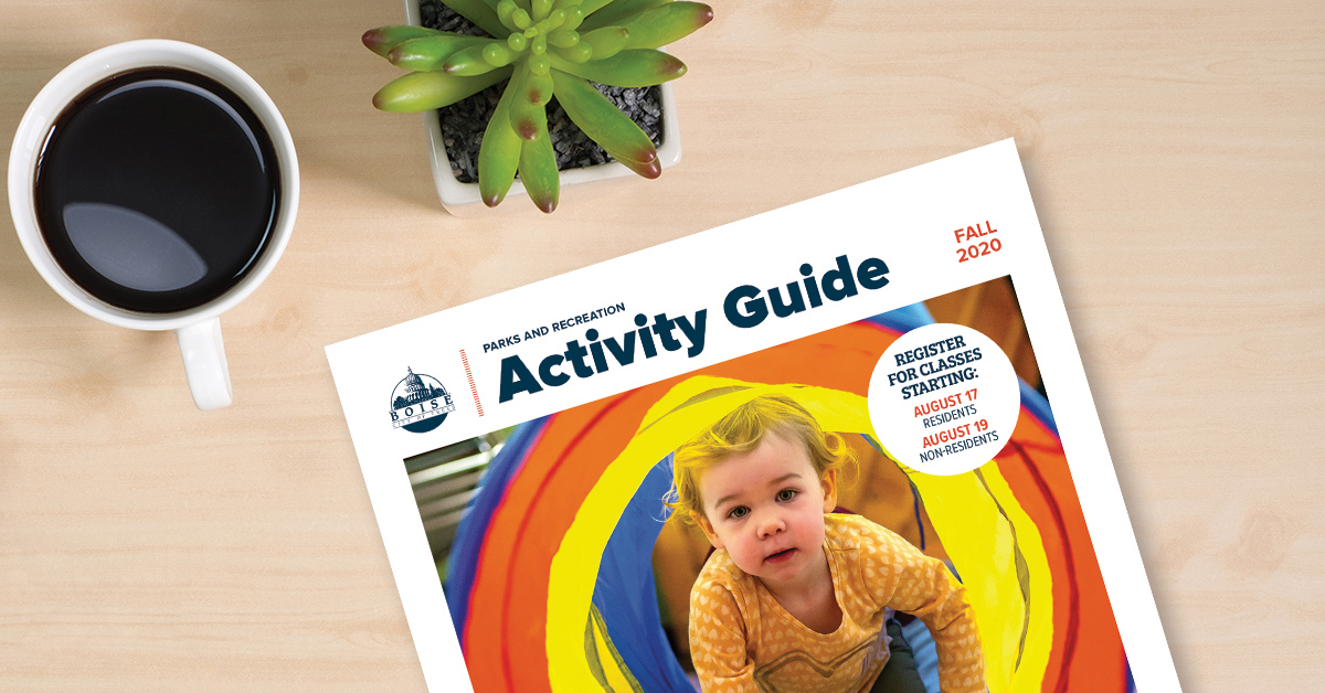 The Fall Activity Guide is now available online. Registration starts Monday, Aug. 17 for Boise residents and Wednesday, Aug. 19 for non-residents. Our team is hosting a variety of activities for all ages with health and safety protocols in place. Browse: