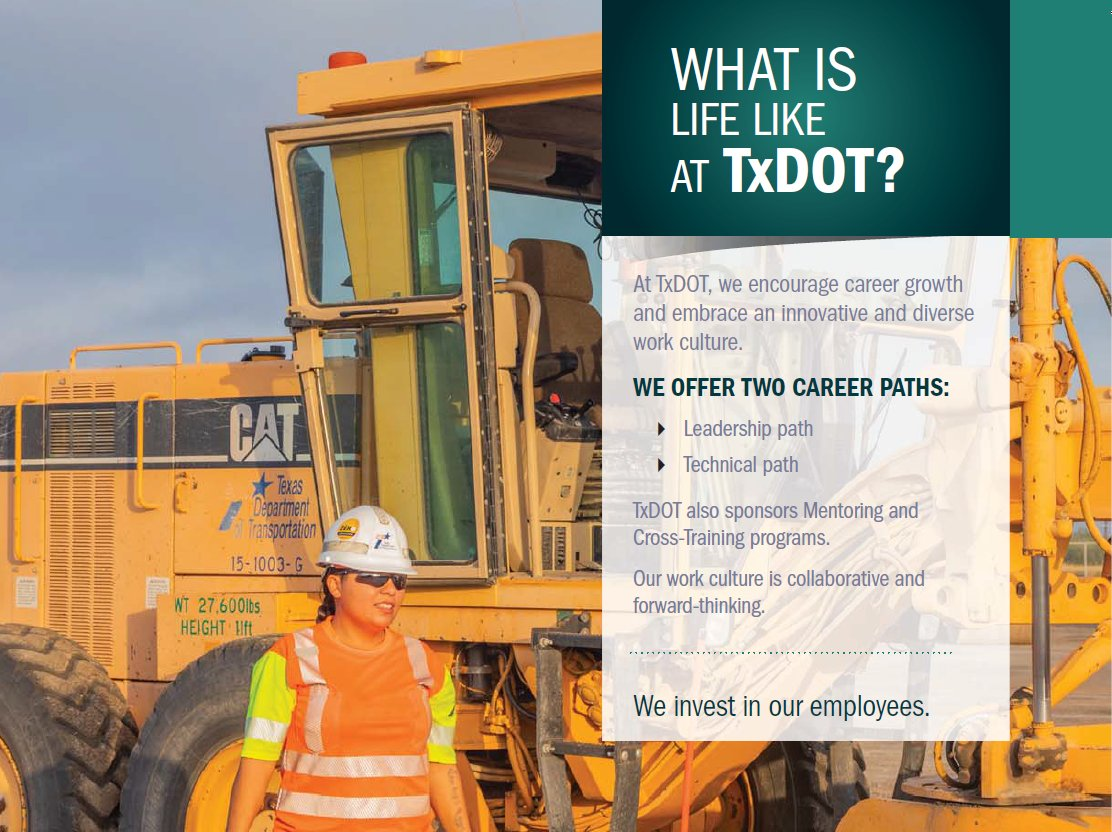 Take action as a Career Development Program Administrator! As part of our HR Team, you will help implement, promote and support a centralized Career Development Program, including the agency's Tuition Assistance Program. Job ID: 118385  #TxDOTCareers