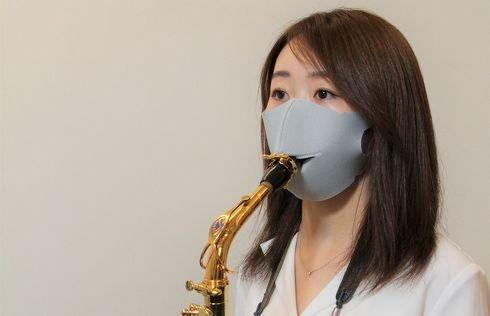 マスクをしたままサックスやトランペットが吹ける! 管楽器を楽しみたい人向けのマスクが8月18日に発売|BIGLOBEニュース