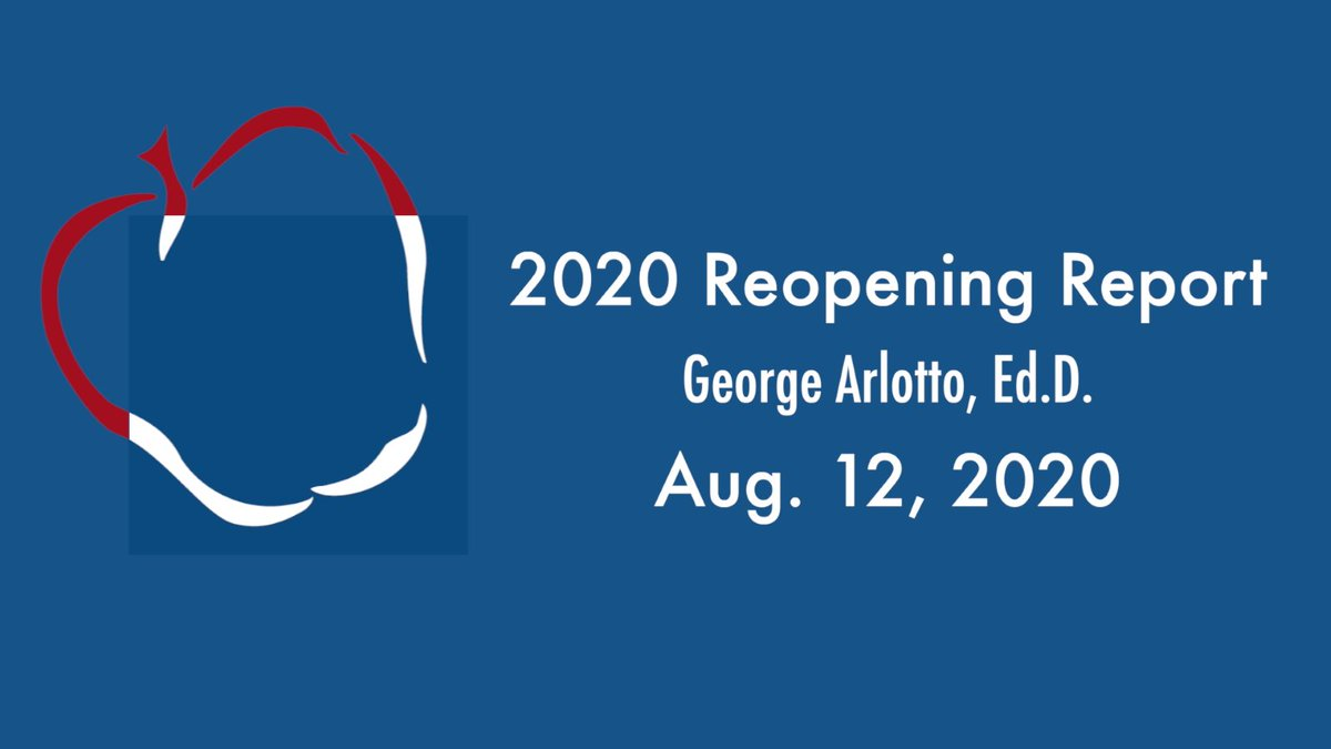 This week's edition of AACPS' Reopening Report is now online. Information about class schedules, the first day of school, and more is included.   The update can be found at .