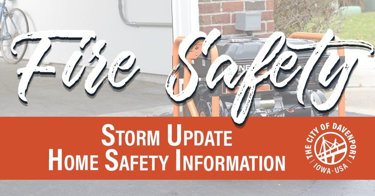 #StaySafeDavenport and follow these guidelines when providing temporary light and energy to your homes.   🔺Only use candles in rooms that you are occupying 🔺Generators should be 20ft away from your home and never inside   🔺Avoid putting generators near windows or door openings