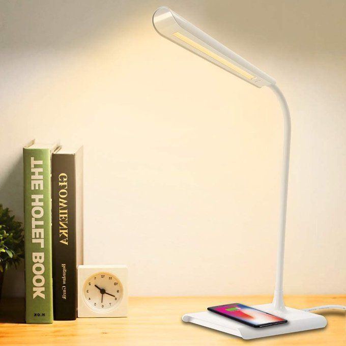 LED Desk Lamp with Wireless Charging, only $17.99!! (retail $44.98!)  Use promo code; 606Q12KD