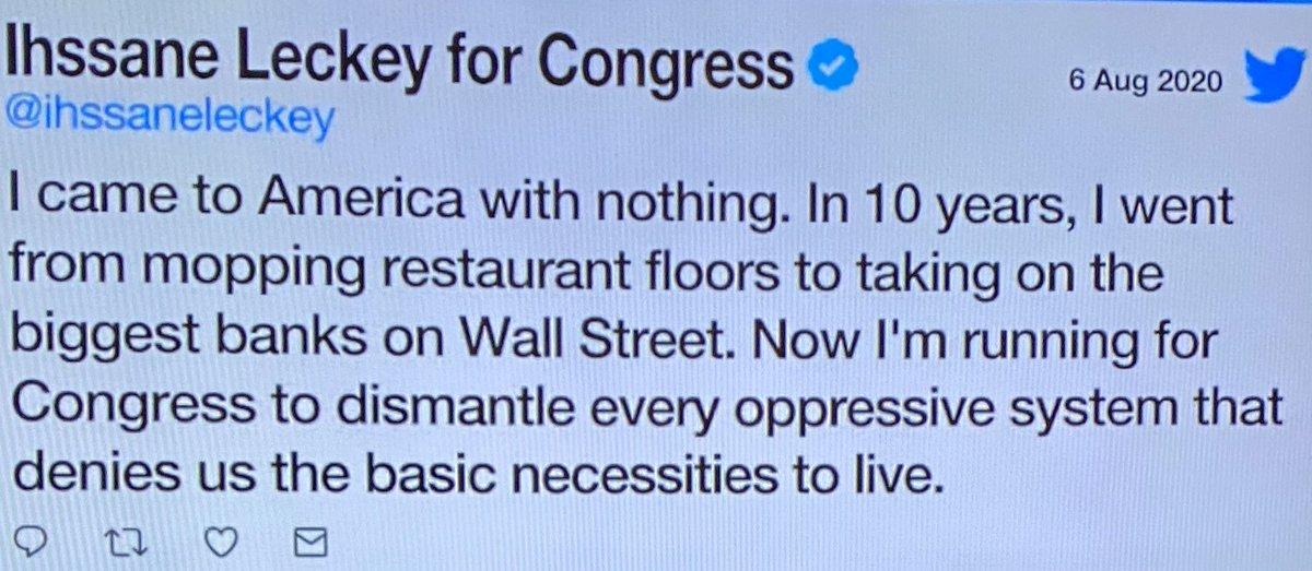 MA Cong. Joe Kennedy retiring. Like Ilhan Omar, Ihssane Leckey wants to take his seat and work to destroy America... that's what her tweet means. #Trump #maga #gop #potus #dems #seanhannity #tuckercarlsontonight #ingrahamangle #realDonaldTrump #Trump2020 #wattersworld