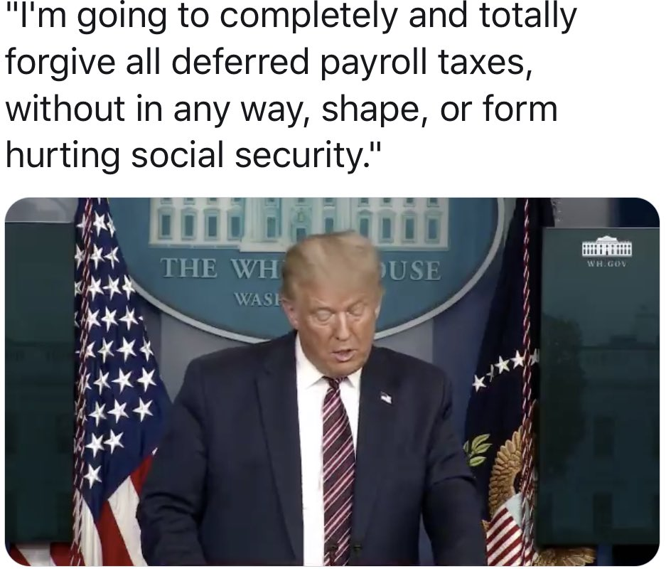 #Trump vows today to protect Social Security  #maga #gop #potus #dems #seanhannity #tuckercarlsontonight #ingrahamangle #realDonaldTrump #Trump2020 #wattersworld