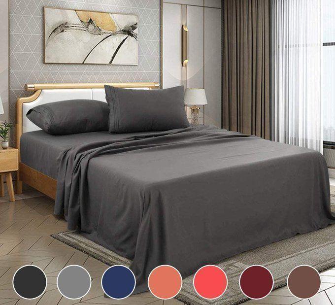4 Piece Bed Sheet Set, $19.74!!  Use promo code; 40HG4IYC
