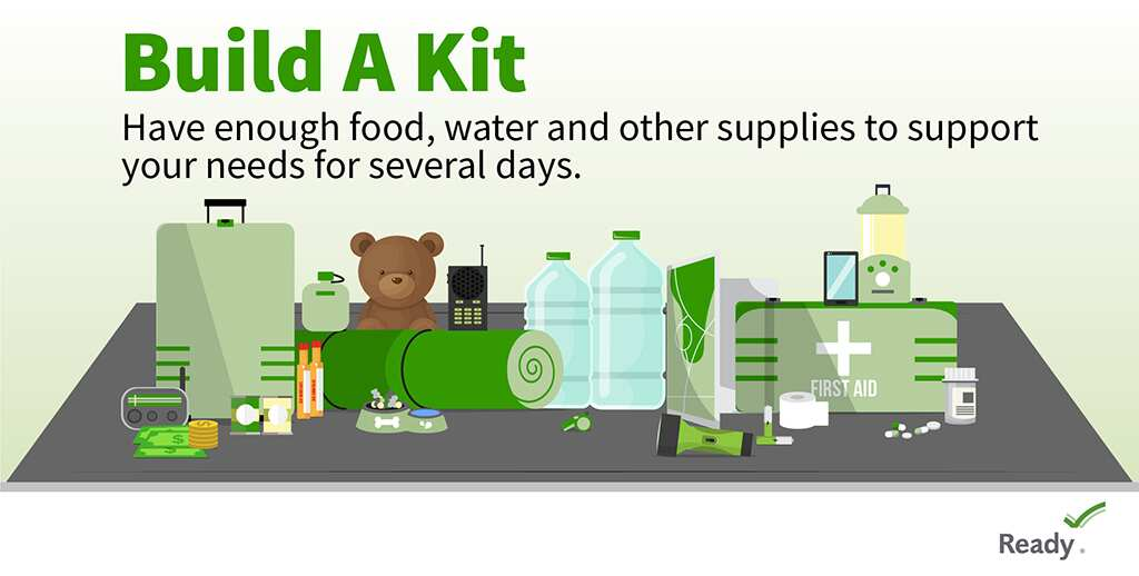 Consider your specific needs when preparing emergency kits:   💊 Medications & other medical supplies. 🔋 Extra batteries/chargers for hearing aids, wheelchairs & items that require power. ☎️ Contact list of family, friends & medical providers. 🐶 Pet supplies.  #SRQCountyES