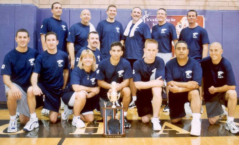 #TBT to the late 90s when the Modesto Police Department played a game of basketball against the Modesto Fire Department at Beyer High School.🏀  Hey @ModestoFire let's do this again when restrictions are lifted.😉