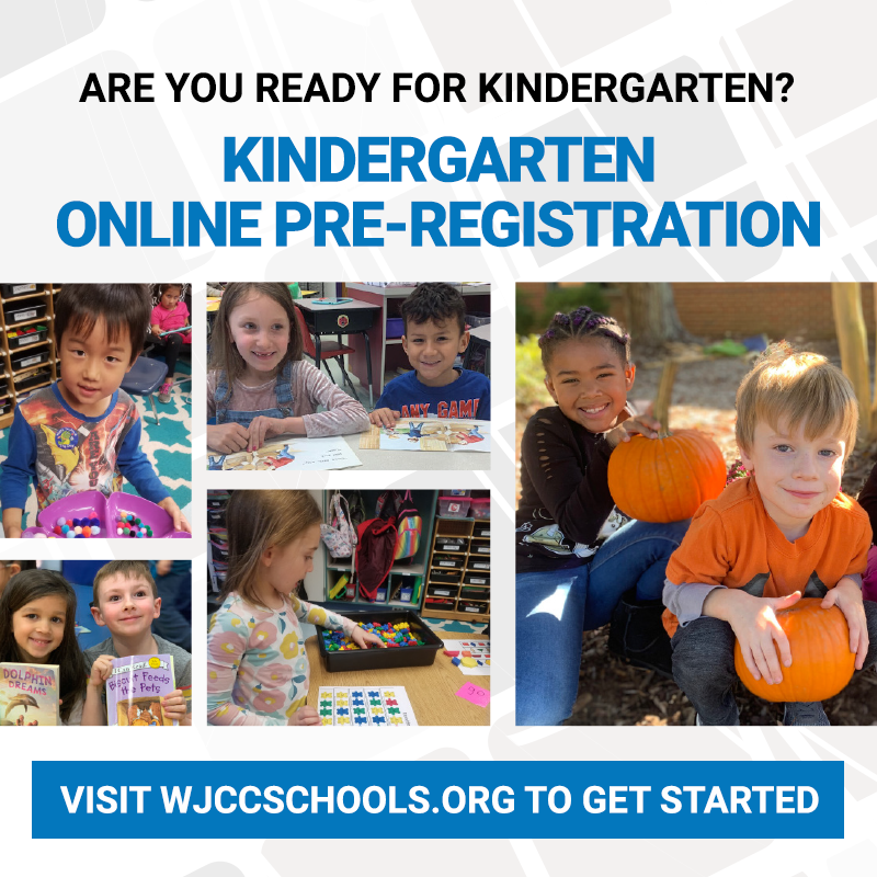 Are you ready for Kindergarten?  For Kindergarten Online Pre-Registration, visit   get started.