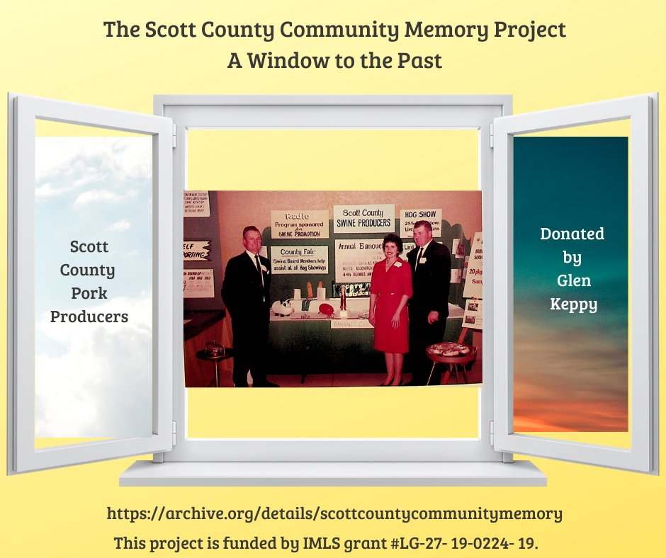 #tbt The Scott County Pork Producers were very influential in local, regional, and national agriculture for many decades. Glen Keppy donated digital copies of his scrapbooks to the Scott County Community Memory Project. It's fascinating stuff!