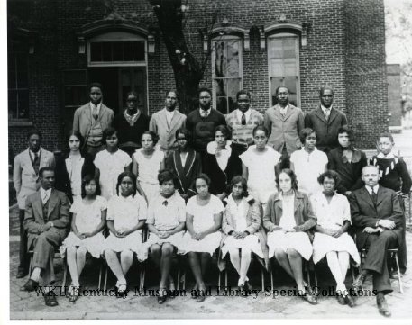 #throwbackthursday to a 1929 photograph of the State Street High School Graduating Class. Names listed on @CityofBGKY facebook.  Photo courtesy of Library Special Collections, WKU