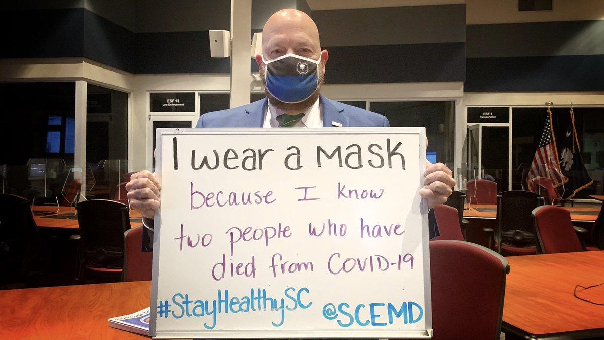 Ron. SCEMD Preparedness Section.  #wearamask #covid19 #stayhealthysc #WearitSC #sctweets #MaskUp