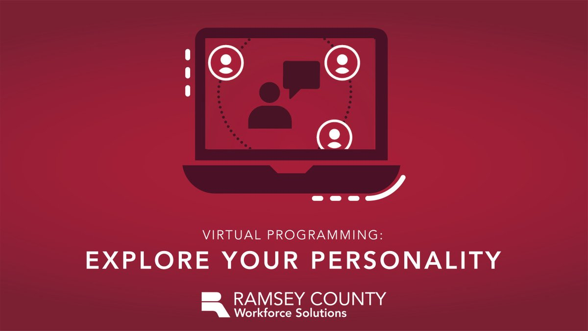 Explore Your Career Personality - Online! Assessments, exercises and small group discussions will be used to identify personality characteristics in this virtual class on Aug. 20. Participants will use outcomes to generate career ideas.  Learn more: