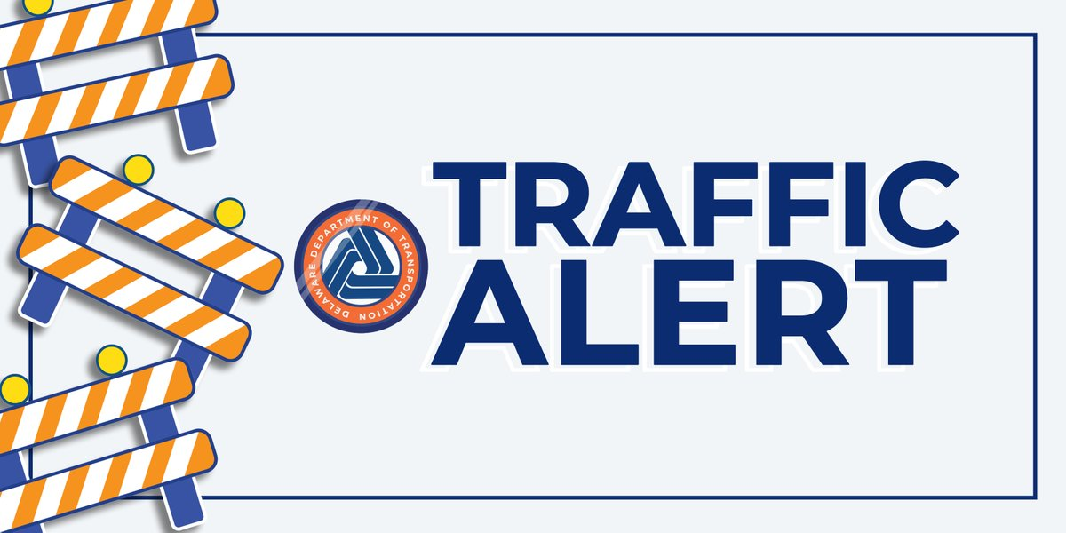 NCCo. Traffic Alert: Route 1 NB is closed north of Smyrna due to a crash. All traffic is being detoured off of Route 1 NB at Exit 119 at this time. #netde